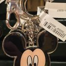 DISNEY PARKS MICKEY MOUSE SMILING FACE METAL KEY CHAIN NEW WITH TAGS