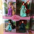 Disney Parks Disney Princess Doll Set of 4 Rapunzel Jasmine Ariel & Merida NIB