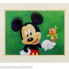 Disney Parks Mickey Mouse and Bird Deluxe Print by Monty Maldovan NEW