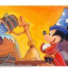 Disney Parks Sorcerer Mickey The Power Deluxe Print by Randy Noble NEW