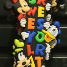 DISNEYLAND FAB 4 DANGLING KEY CHAIN MICKEY MINNIE DONALD & GOOFY NEW WITH TAGS