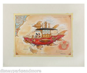 Disney Parks Mickey Mickey's Steam Powered Airship Print by Mark Page