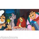 Disney Parks Lady and The Tramp At Tony's Place Deluxe Print by Williams NEW