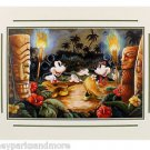 Disney Parks Mickey and Minnie Mouse Hula Time Deluxe Print by Darren Wilson NEW