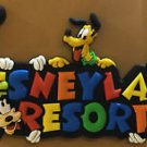 "Disneyland Fab 5 MICKEY MINNIE DONALD PLUTO & GOOFY Decorative 3"" Magnet NEW"