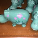 "Disney Parks Hippopotamus It's a Small World Attraction Ceramic Figurine 6"" NEW"