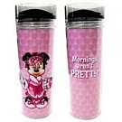 Disney Parks Minnie Mouse Travel Tumbler Mornings Aren't Pretty NEW