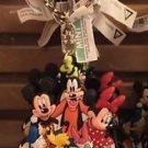 DISNEY PARKS FAB 6 DANGLING KEY CHAIN MICKEY MINNIE DONALD DAISY PLUTO & GOOFY