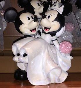 Disney Parks Mickey & Minnie Mouse Bride & Groom Wedding Ceramic Figurine NEW