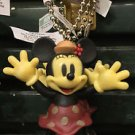 DISNEY PARKS POSABLE MINNIE MOUSE DANGLING KEYCHAIN NEW WITH TAGS