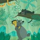 Disney WonderGround JUNGLE BOOK BEAR NECESSITIES Postcard by Ben Burch NEW