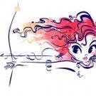 "Disney WonderGround Merida from ""Brave"" Deluxe Print by Whitney Pollett NEW"