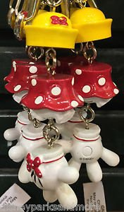 DISNEY PARKS MINNIE MOUSE BODY PARTS DANGLING KEYCHAIN NEW WITH TAGS