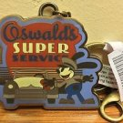 DISNEY PARKS OSWALD THE LUCKY RABBIT SUPER SERVICE METAL KEYCHAIN NEW