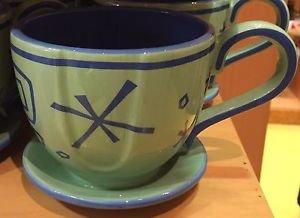 Disney Parks Alice In Wonderland Mad Hatter Tea Cup Ride Green Ceramic Mug