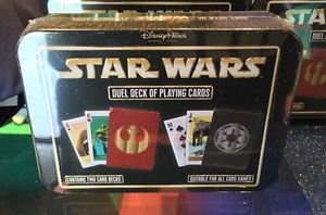 Disney Parks Star Wars Duel Deck of Playing Cards New in Tin Case