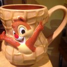 Disney Parks Exclusive Chip and Dale Ceramic Mug Cup Peanut Shape New