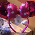 Disney Parks Hot Pink Squined Minnie Mouse Ear Headband Ear Hat New With Tags