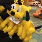 "Disney Parks Pluto 4"" Plush Dangling Keychain New With Tags"