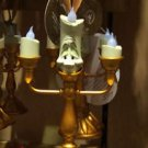 Disney Parks Beauty and the Beast Lumiere Light Up Candlestick Ornament New