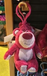 DISNEY PARKS LOTSO BEAR FROM TOY STORY-3 PLUSH DANGLING KEYCHAIN NEW WITH TAGS
