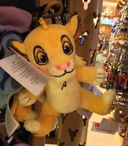 DISNEY PARKS SIMBA FROM THE LION KING PLUSH DANGLING KEYCHAIN NEW WITH TAGS