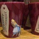 DISNEY PARKS ALICE IN WONDERLAND WE'RE ALL MAD HERE SHOT GLASS NEW (SET OF 2)
