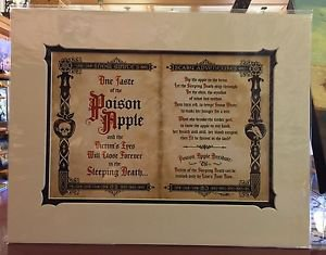 Disney Parks Exclusive Snow White's Poison Apple Deluxe Print by Jeremy Fulton New