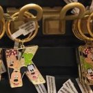 "Disney Parks Mickey Minnie & Goofy Initial Letter Keychain ""J / K / L"" New"