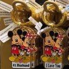 Disney Parks Mickey & Minnie Keychain #1 Husband / I Love You New With Tags