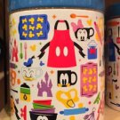 Disney Parks Mickey and Friends Kitchen Print & Characters Large Ceramic Jar New