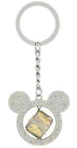DISNEY PARKS MICKEY MINNIE MOUSE GOOFY DONALD PLUTO CUBE METAL KEYCHAIN NEW