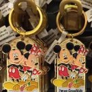 Disney Parks Mickey Minnie Pluto Keychain I Love My Granddaughter / Grandkids