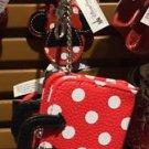 Disney Parks Minnie Mouse Polka Dot Bag with Charm Keychain New