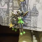 """Disney Parks Silver Plated Charm """"Tinker Bell / Mickey Ear with Stones"""" New"""