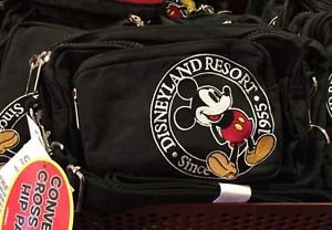 Disneyland Resort Since 1955 Mickey Mouse Convertible Cross Body Hip Pack New