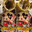 Disney Parks Mickey Minnie Pluto Keychain I Love My Truck / I Love Racing New