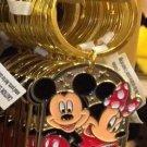 """Disney Parks Mickey Minnie Pluto Keychain """"Nicole"""" New"""