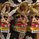 Disney Parks Mickey Minnie Pluto Keychain Stephanie / Susan New