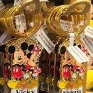 Disney Parks Mickey Minnie Pluto Keychain Vicky / Victoria New