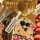 "Disney Parks Mickey Minnie Pluto Keychain ""Carmen"" New"