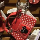 Disney Parks Minnie Mouse Polka Dot Bag Keychain New With Tags