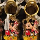 """Disney Parks Mickey Minnie Pluto Keychain """"#1 Soldier / #1 Son"""" New with Tags"""