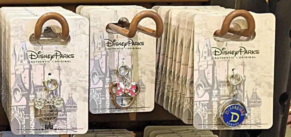 "Disney Parks Silver Plated Charm ""Mickey Ear Globe / Minnie Mouse / Disneyland"""