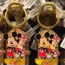 """Disney Parks Mickey Minnie Pluto Keychain """"Peace / #1 Pet Sitter"""" New With Tags"""