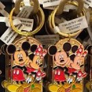 "Disney Parks Mickey Minnie Pluto Keychain ""Mommy / My Mouseketeer"" New With Tags"