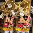 Disney Parks Mickey Minnie Pluto Keychain I LoL / Love and Kisses New With Tags