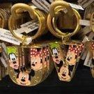 """Disney Parks Mickey Minnie & Goofy Initial Letter Keychain """"T / U / V / W"""" New"""