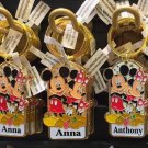 "Disney Parks Mickey Minnie Pluto Keychain ""Angela / Anna / Anthony / Ashely"" New"