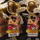 Disney Parks Mickey Minnie Pluto Keychain Kayla / Kelly / Kimberly / Laura New